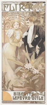 flirt biscuits, variante grand prix - paris by alphonse mucha
