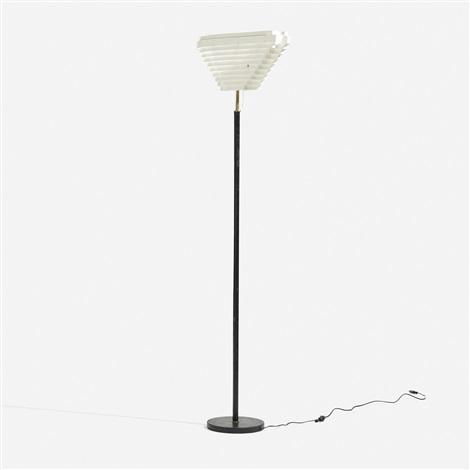 angel wing floor lamp, model a805 by alvar aalto