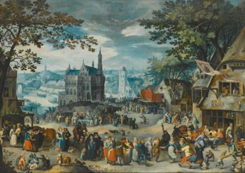 the kermesse of the feast of st george by david vinckboons