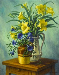 still life of flowers by rad miller