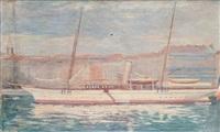 le santanna dans le vieux-port de marseille by henry laurent
