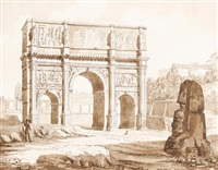 the arch of constantine by thomas allom