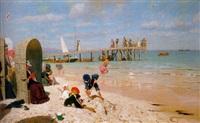 a sunny day at the beach by wilhelm simmler
