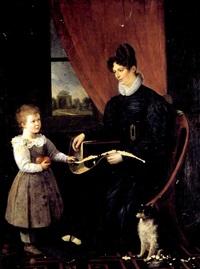 une jeune mère et son petit garçon by anne-françois arnaud