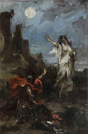 clorinde apparaissant au chevalier tancrède chant xii 91 by henri léopold lévy