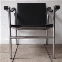 2 fauteuils, modèle lc1 (set of 2) by le corbusier and charlotte perriand
