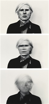 portrait of andy warhol by duane michals