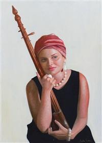 ragazza con strumento musicale by antonio sciacca