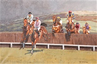 over the fence, cheltenham by neil cawthorne