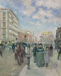 fifth avenue at 23rd street by theodore robinson