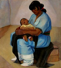 taos mother and child by helena adele dunlap