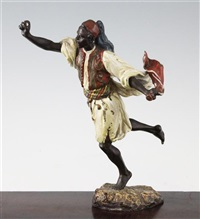figure of an arab male running by nam greb