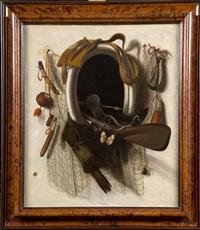 trophées de chasse et de pêche à travers une lucarne by jacobus biltius