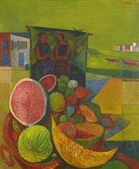 melon sellers, corsica by john minton