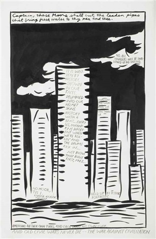 untitled captain these moors shall by raymond pettibon