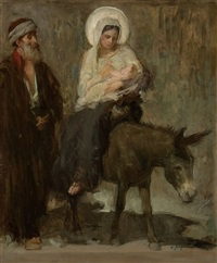 flight into egypt by henry jacquier
