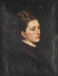 portrait of castalia rosalind, countess granville (1847-1938), wife of the second earl granville by charles edward perugini