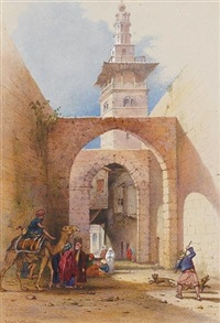 jerusalem street scene by richard dadd