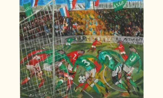 Finale de coupe deurope de las st etienne en 1976 by jean bertholle on artnet - St etienne coupe d europe ...