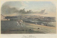 city of melbourne from the south bank of the yarra yarra looking north west by samuel thomas gill