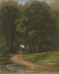 chemin en sous-bois by nicolas louis cabat
