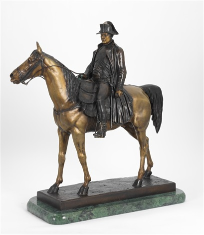 emperor napoleon i astride his horse magrengo by louis marie moris