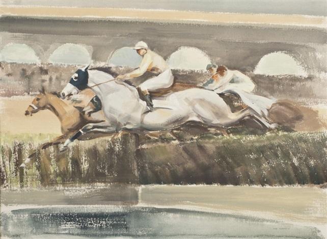 le saut de haie by john rattenbury skeaping