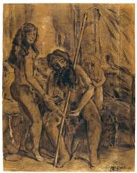 anciano, desnudo y niño by armando reverón
