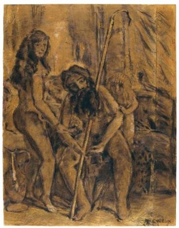 anciano desnudo y niño by armando reverón