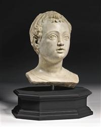 head of a child by mino da fiesole