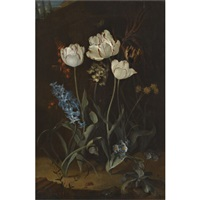 still life with tulips and hyacinth by coenraet (conrad) roepel