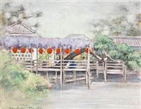 a lantern bridge by mortimer luddington menpes