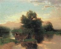 balatoni nádas (reeds in lake balaton) by gyula aggházy