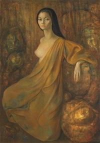 portrait surréaliste d'adriana (portrait of adriana williams) by leonor fini