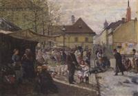 eine marktszene (in wien?) by j. sellenati