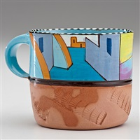mexican village cup #2 by ken price