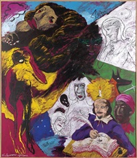 shakespeare's africans (from 30 americans) by robert h. colescott