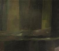 liegender akt hinter einem vorhang by jiri david