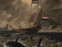 whaling in northern waters by bonaventura peeters the elder