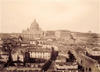 basilica di san pietro e spina di borgo (+ roma, veduta dal quirinale; 2 works) by james anderson