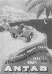 antar rallye de monte-carlo by posters: sports - monaco grand prix