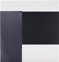 exposed painting paynes grey/violet on white by callum innes