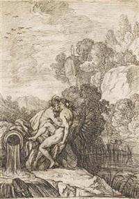 céphise et liriopé (+ étude pour la même composition, verso) by cazes le fils