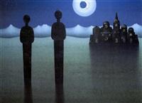 nocturno con dos figuras by alejandro arostegui