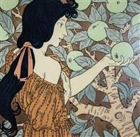 femme à la vigne by eugène grasset