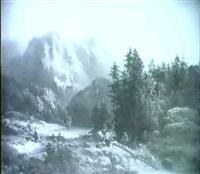 schweizer gebirgslandschaft mit see by henri baumgartner