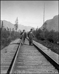 travelers series: walking the rails by karl huber