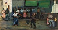 rybí trh v tossa del mar by georges (karpeles) kars