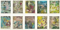 centre noeuds (set of 10) by roberto matta