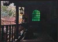 turquie: femme assise au balcon by jules gervais courtellement